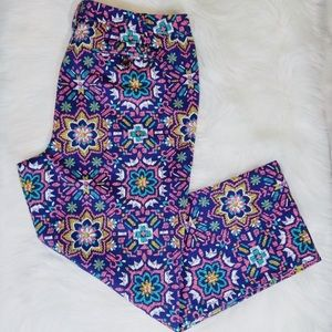 lands end pants with mosaic pattern